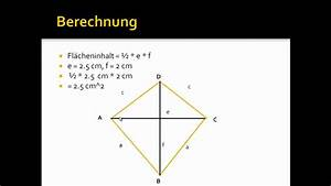Flächeninhalt Drachenviereck Berechnen : fl cheninhalt eines drachen berechnen youtube ~ Themetempest.com Abrechnung