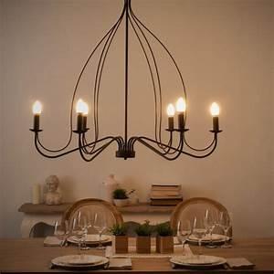 Maison Du Monde Lustre : lustre en m tal noir d100 lampes et luminaires m tal ~ Melissatoandfro.com Idées de Décoration