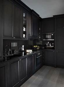 5 bold all black kitchens diamond interiors kitchens With chelsea all in one kitchen