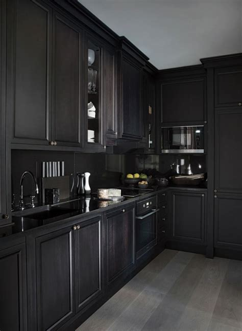 5 Bold All Black Kitchens   DIAMOND INTERIORS