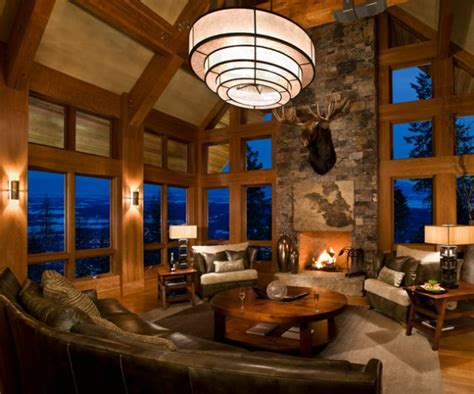 glamorous chalet living room designs  wows