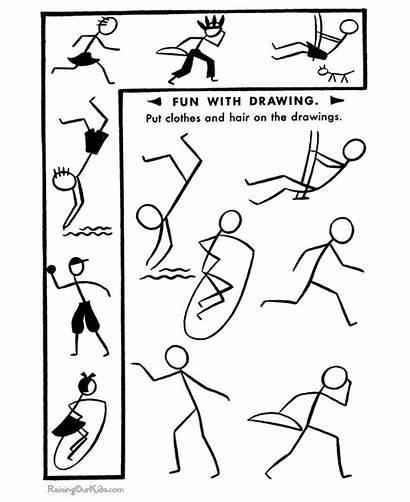 Stick Stickman Draw Drawing Kid Learn Figure