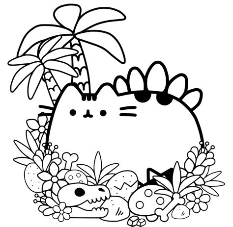 pusheen coloring pages  print