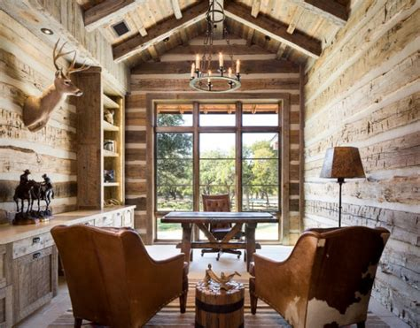 inspiring rustic home office study designs