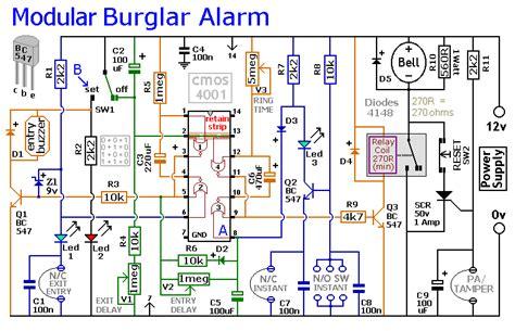 Expandable Multi Zone Modular Burglar Alarm Circuit