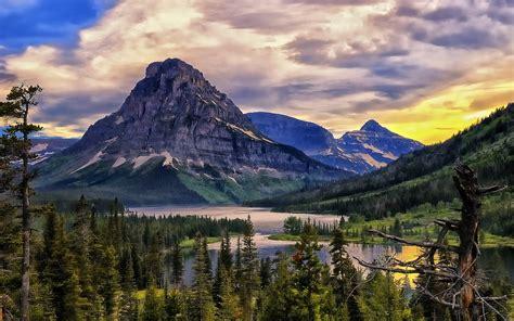 Lake Glacier Park Hd Desktop Wallpapers 4k Hd
