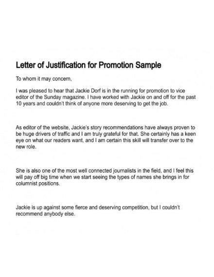 promotion letter templates examples  word pages numbers   examples