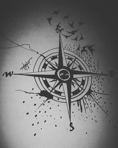13 best Drawings images on Pinterest | Calavera tattoo, Compass tattoo and Mens tattoos