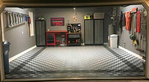 Another Great Garage Floor Tile Project   Garage Flooring