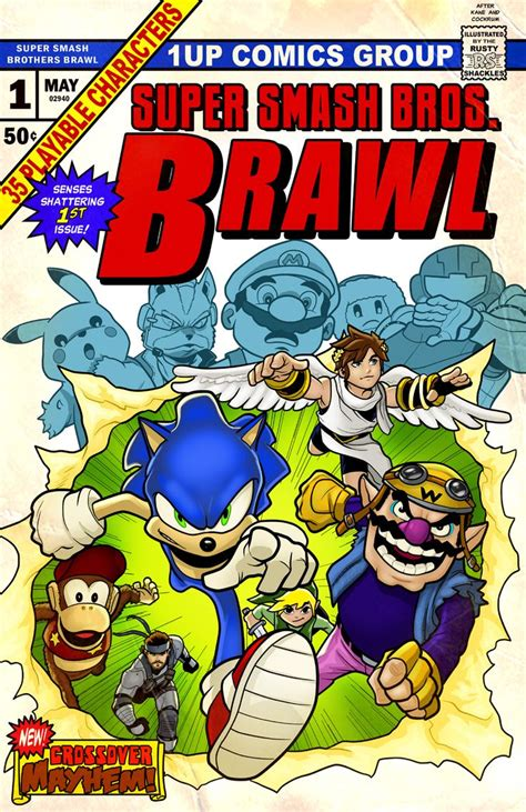 Super Smash Bros Brawl Comic Nintendo Mario Link