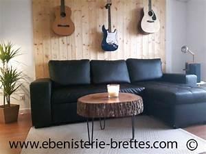 Table Basse Tronc : table de salon tronc d 39 arbre ebenisterie brettes ~ Teatrodelosmanantiales.com Idées de Décoration