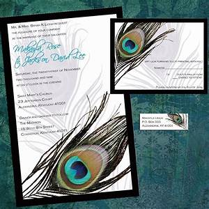 Peacock wedding invitations wedding invitation by for Peacock wedding invitations with photo