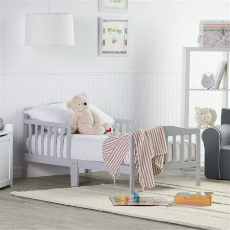 Kid Bed by Orbelle Contemporary Solid Wood Toddler Bed Gray
