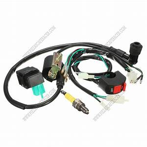 Wiring Loom Kill Switch Coil Cdi Spark Plug Kit For 110cc
