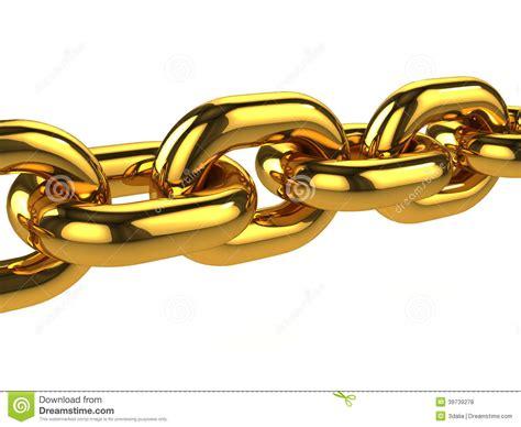 3d Gold Chain Stock Illustration