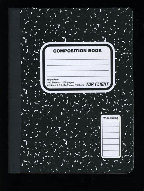 Compsotion Notebook Template by Composition Books Vernacular Typography