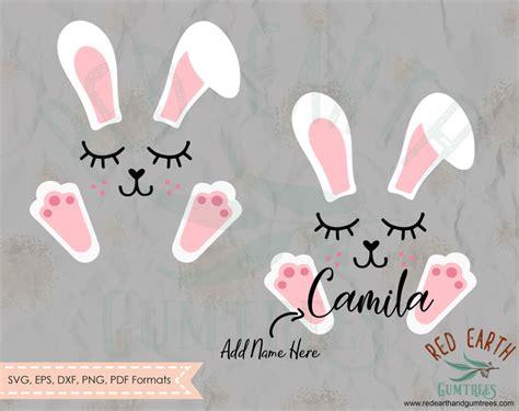bunny ears feet  lashes cute bunny face easter rabbit face easter bunny feet ears lashes