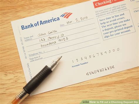 how to fill out a deposit ticket how to fill out a checking deposit slip 12 steps with