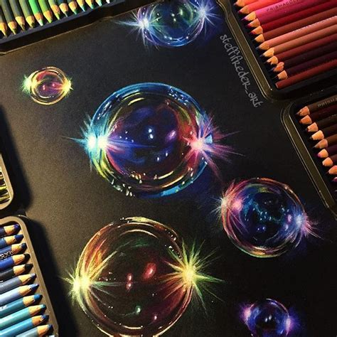 bubble drawing  finally complete prismacolor soft