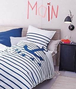 Maritime Möbel Blau Weiß : maritim einrichten m bel aus holz und textilien in blau und wei bettw sche aus leinen von ~ Bigdaddyawards.com Haus und Dekorationen