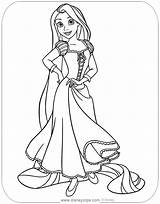 Rapunzel Coloring Tangled Disney Printable Disneyclips Painting Pascal Pdf Gothel Mother Posing Template sketch template