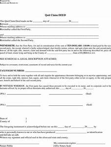 download florida quitclaim deed form 1 for free tidyform With quit claim deed template free download