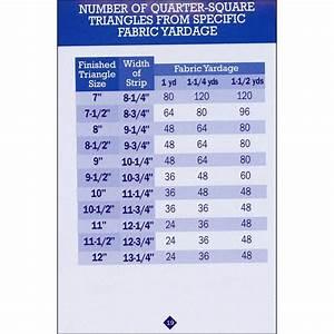 No Math Quilt Charts  U0026 Formulas