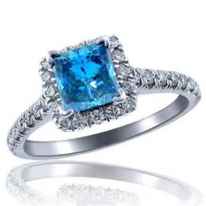 princess cut blue engagement rings princess cut fancy blue white engagement ring engagement rings review