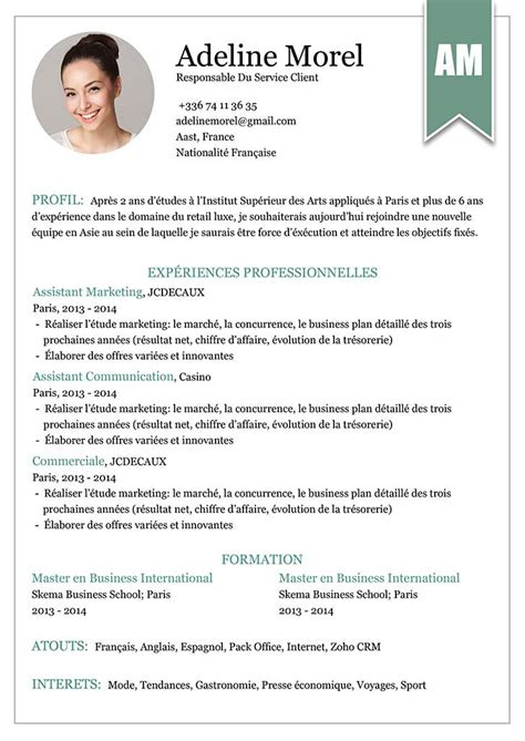 Model Des Cv by Cv Mise En Page