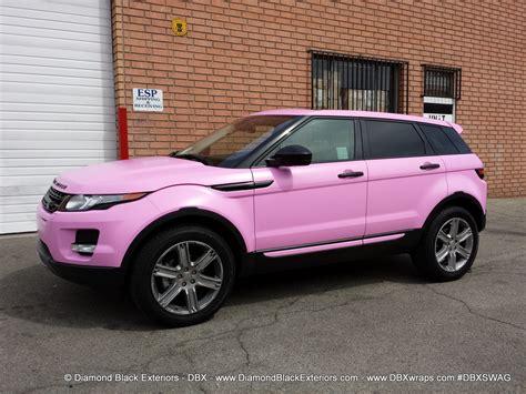 2017 maserati granturismo sport matte black range rover evoque wrapped in satin bubble gum pink avery