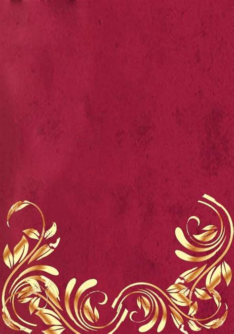 red  gold wedding invitation background wedding