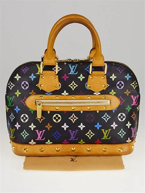 louis vuitton black monogram multicolore alma bag yoogi