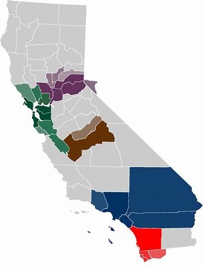 California Map Metropolitan Areas Gray Locator Extended