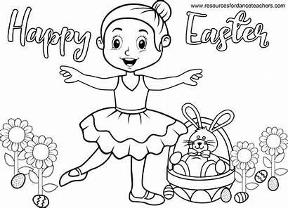 Easter Dance Coloring Ballet Preschool Sheet Songs