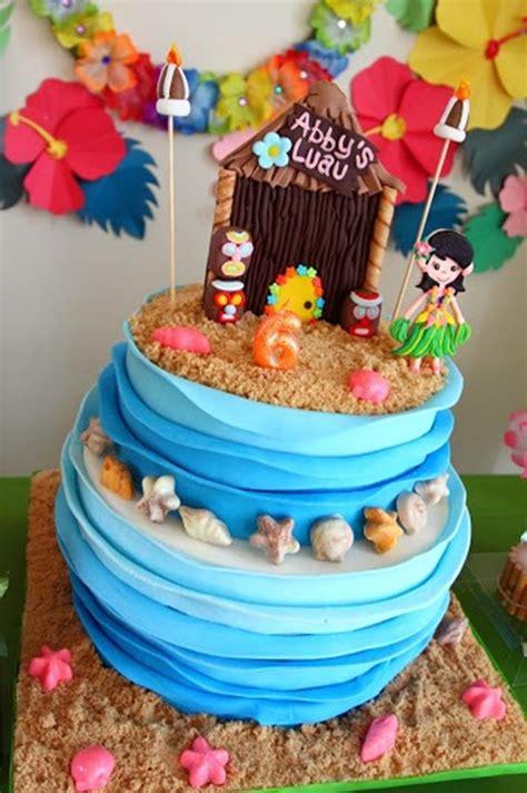 Hawaiian Cake Decorations by Kara S Party Ideas Luau Party Planning Ideas Supplies Idea
