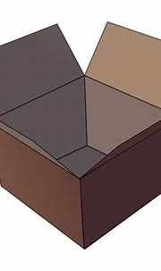 Vector image of dark brown open cardboard box | Free SVG