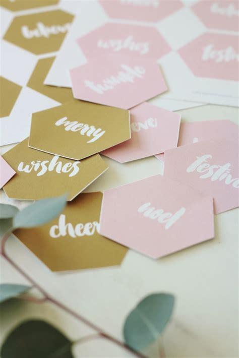 printables modern blush gold holiday gift tags
