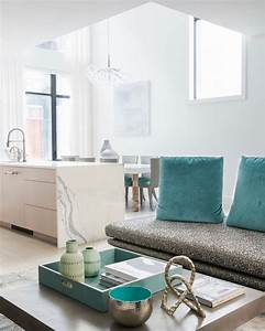 Neutral, Home, Decor, With, Pops, Of, Turquoise, Turquoise, Is