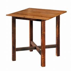square barnwood pub table With barnwood bar table