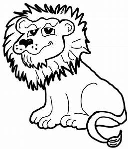 Cartoon Lion Outline - ClipArt Best