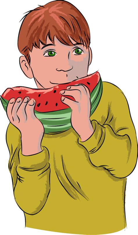 eating watermelon clipart fort