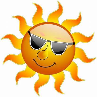 Sun Sunshine Cool Pixabay Summer Heat Graphic