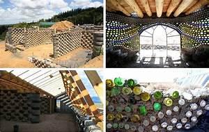 Materiaux Construction Maison : earthship ou geonef mode constructif ecologique en materiaux recycles sustainable earthship ~ Carolinahurricanesstore.com Idées de Décoration