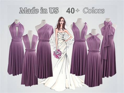 Lavender Bridesmaid Dresses Infinity Dress Gown Convertible