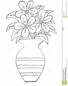 Drawing Pencil Sketch Of Flowers Pot - Drawing Of Sketch