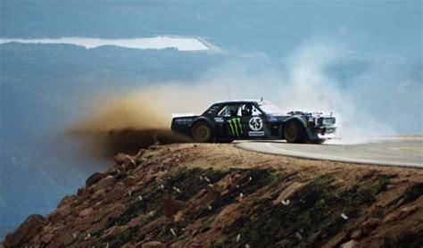 ken blocks drifts pikes peak   horsepower mustang
