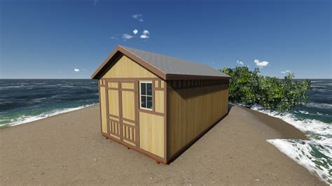 gable storage shed plan