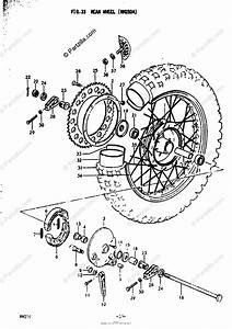 Suzuki Motorcycle 1978 Oem Parts Diagram For Rear Wheel
