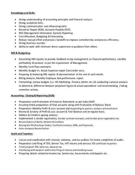 Analytical Skills Accounting Resume by Resume Sanjay Joshi