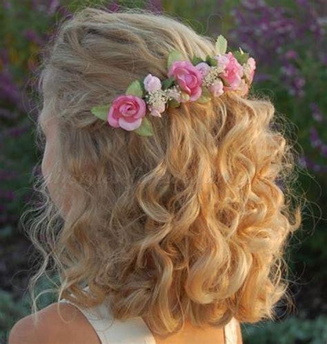 flower girl hairstyles flowergirl hairstyles wavy